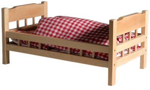 Van Dijk Toys Poppenledikant beuken (flatpacked)