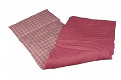 Van Dijk Toys Bedbekleding roze/wit geblokt