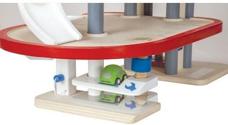 Plan Toys  Plan City houten speelstad gebouw Parkeer garage-3