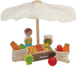 Plan Toys Plan City houten speelstad set Markt
