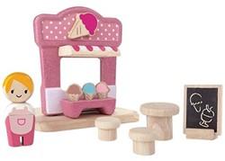 Plan Toys  Plan City houten speelstad gebouw Ice cream shop
