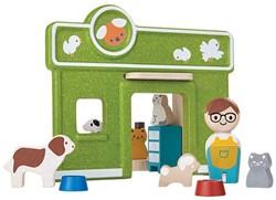 Plan Toys Plan City houten huisdieren opvang