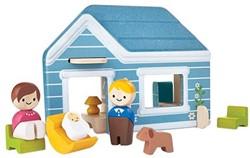 Plan Toys Plan City houten speelstad gebouw Thuis