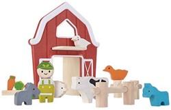 Plan Toys Plan City houten speelstad gebouw Boerderij
