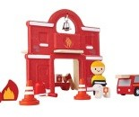 Plan Toys  Plan City houten speelstad gebouw Brandweer station