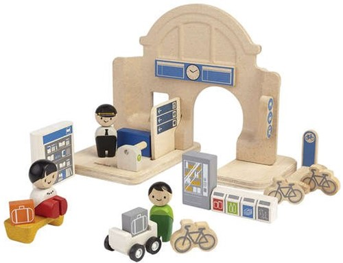 Plan Toys  Plan City houten speelstad gebouw Station-2