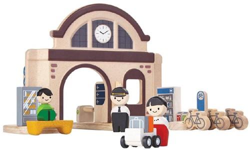 Plan Toys  Plan City houten speelstad gebouw Station-1