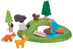 Plan Toys Plan City houten speelstad poppentjes Animal Set