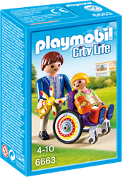 Playmobil City Life  - Kind in rolstoel  6663