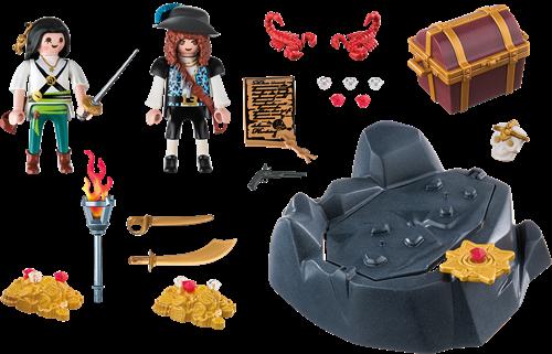 Playmobil Pirates - Koninklijke schatkist met piraat  6683-2