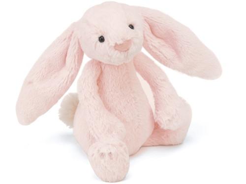Jellycat Bashful Roze Konijn Rammelaar