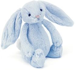 Jellycat Bashful Blue Bunny Rattle - 18cm