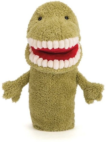 Jellycat  handpop Toothy T-Rex-2