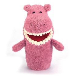 Jellycat  handpop Toothy Hippo