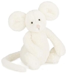 Jellycat Bashful Cream Mouse Small - 18cm