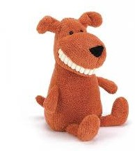 Jellycat  pluche knuffel Toothy Mutt Small - 22 cm