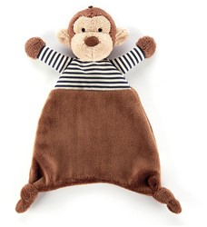 Jellycat Stripey Monkey Soother - 23cm
