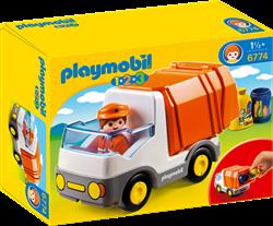 Playmobil 1.2.3 Vuilniswagen 6774