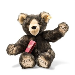 Steiff Around the world bears Tom, the globetrotting Teddy bear, dark brown t