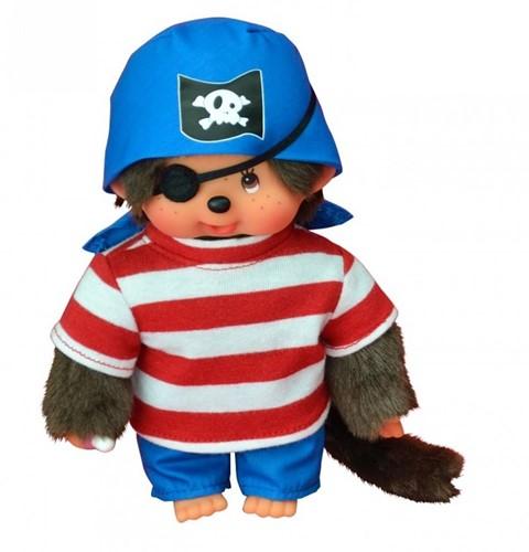Monchhichi  knuffelpop Jongen Piraat - 20 cm-1