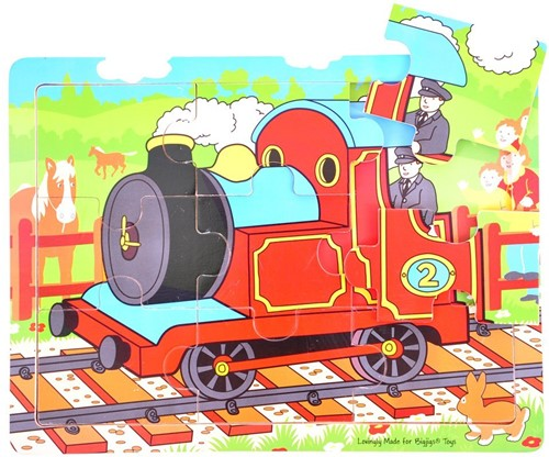Bigjigs 9 Piece Tray Puzzle - Train