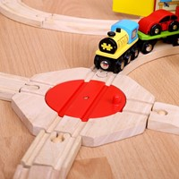 BigJigs houten trein 4 Way Turntable