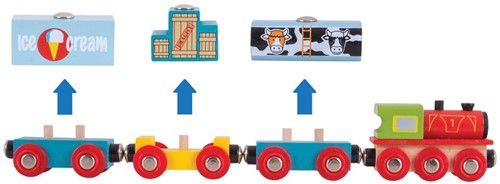 Bigjigs Goods Train-3