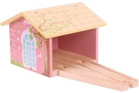 Bigjigs Pink Double Engine Shed