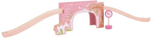 Bigjigs Pink Arched Bridge