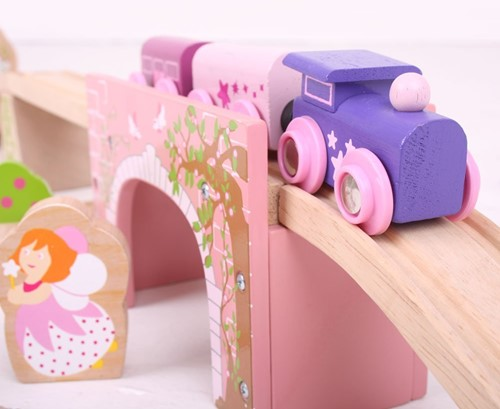 BigJigs Pink Arched Bridge-2