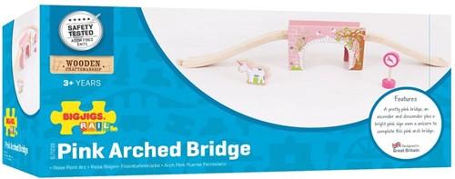 Bigjigs Pink Arched Bridge-3