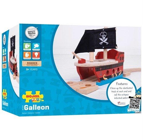 Bigjigs Pirate Galleon-2