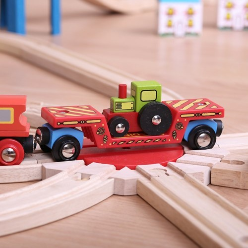 Bigjigs Tractor Low Loader-3