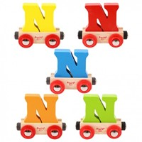 BigJigs Rail Name Letter N, BIGJIGS, LETTERTREIN N-3