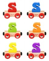 BigJigs Rail Name Letter S, BIGJIGS, LETTERTREIN S-3
