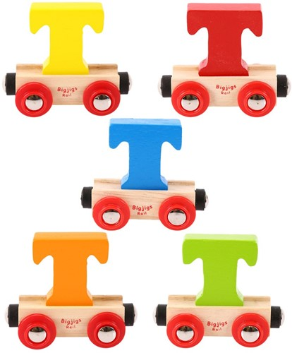 BigJigs Rail Name Letter T, diverse kleuren