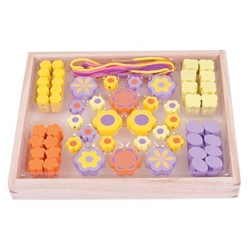 BigJigs Bead box - Flower