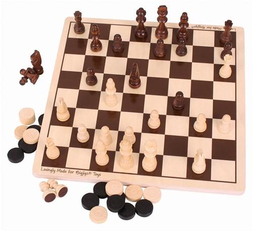 Bigjigs Draughts & Chess Set