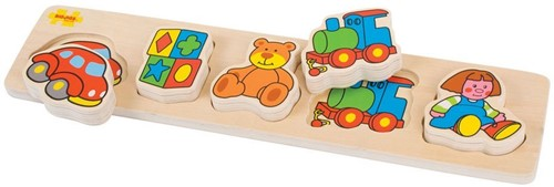 Bigjigs Chunky Lift and Match - Toys