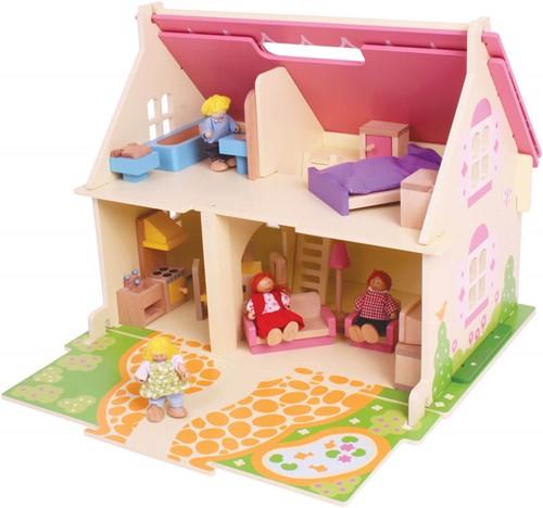 BigJigs houten poppenhuis Blossom Cottage -1