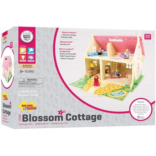 BigJigs houten poppenhuis Blossom Cottage -3