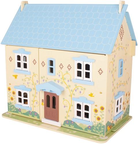 BigJigs houten poppenhuis Sunflower Cottage-1