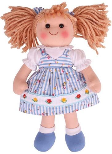 Bigjigs Christine - Blue Stripey Flower Dress/Blonde