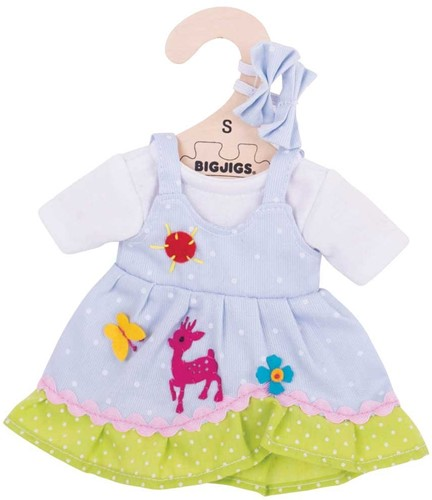 Bigjigs Blue Spotted Dress with Deer - Small