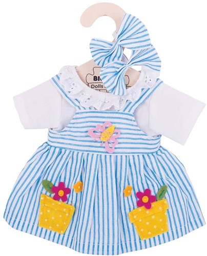 Bigjigs Blue Striped Dress - Medium