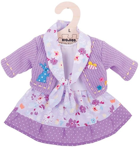 Bigjigs Lilac Dress and Cardigan - Large