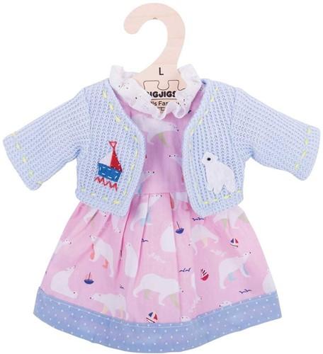Bigjigs Polar Bear Pink Dress - Large