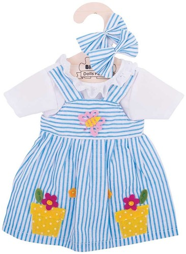 Bigjigs Blue Striped Dress - Large