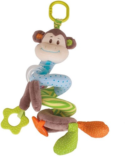 Bigjigs Cheeky Monkey Spiral Cot Rattle