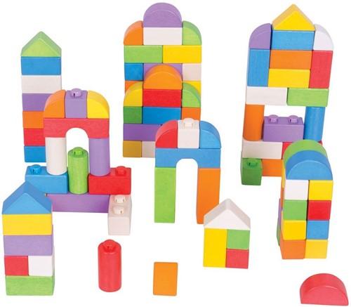 Bigjigs Click Blocks - Coloured - 100pce